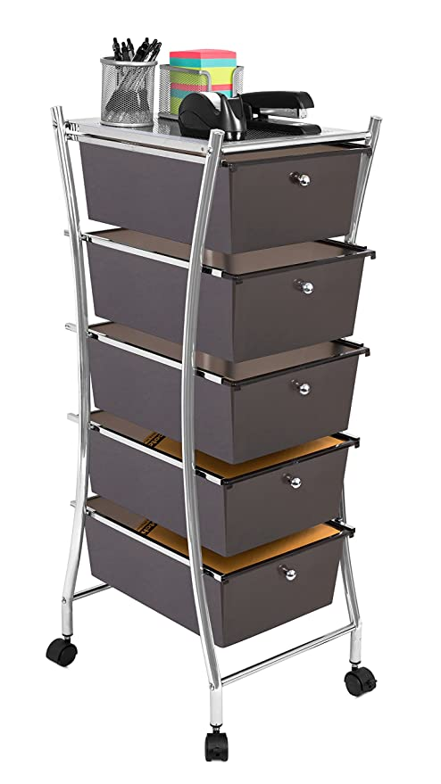 Internetu0027s Best 5 Tier Rolling Cart Organizer | 5 Large Drawers | Classroom  Teaching,