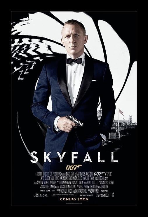 Amazon.com: Wallspace James Bond Skyfall - 11x17 Framed Movie ...