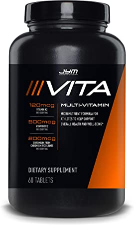 JYM Sports Multivitamin Supplement Tablets - Vitamins A, C, E, and K   JYM Supplemental Science   60 Tablets