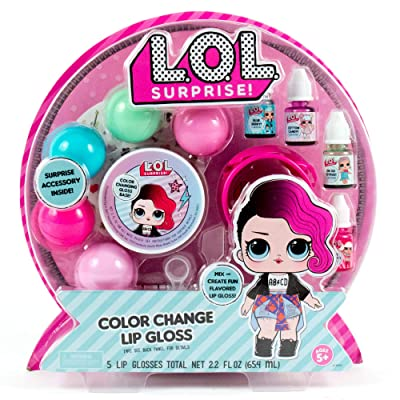 L.O.L. Surprise! Color Change Lip Gloss By Horizon Group Usa, Mix & Create 5 Color Changing ,Multi Flavored Lip Glosses,DIY Lip Gloss Making Kit, Containers & Decorative Stickers Included.Multicolored: Toys & Games