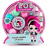 L.O.L. Surprise! Color Change Lip Gloss By Horizon Group Usa, Mix & Create 5 Color Changing ,Multi Flavored Lip Glosses,DIY Lip Gloss Making Kit, Containers & Decorative Stickers Included.Multicolored