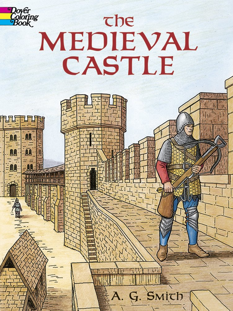 Medieval Castle Dover History Coloring product image