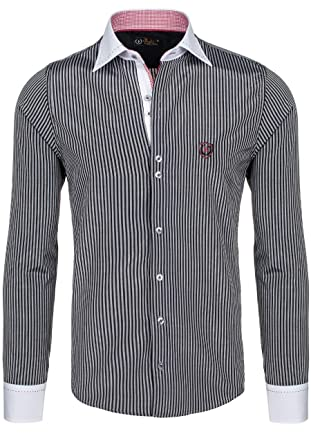 BOLF Langarm Herrenhemd Hemd Figurbetont Freizeit Slim Fit 4784-1  Amazon.de   Bekleidung f2721eb464