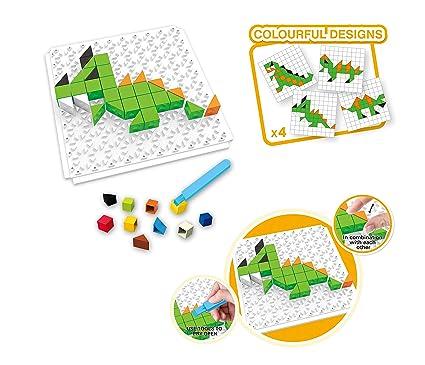 Popsugar 4 in 1 Mini Dinosaur Toy Brick Puzzle Series for Kids | Educational, Creativity, Learn…