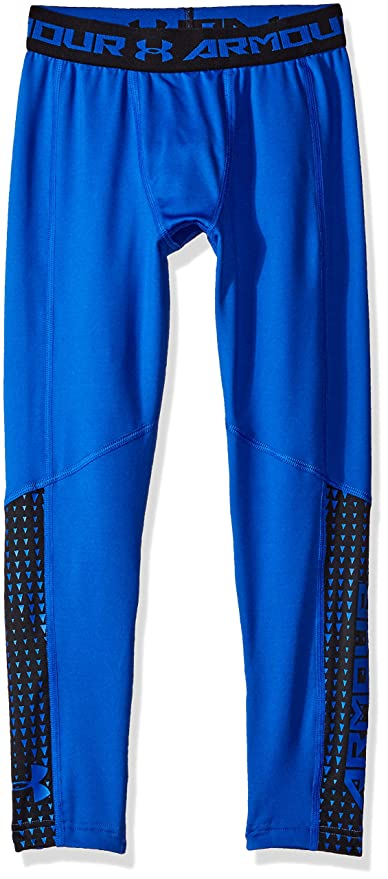 29c57a386e Under Armour Boys' ColdGear Armour Up Leggings, Ultra Blue , Youth X-Large