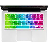 Maccesories Protector de Teclado Apple MacBook Cubierta para Teclado Cubre Teclado Cubreteclado MacBook Arcoiris Inglés A1278/A1286/A1466/A1502/A1425/A1398/A1342 MacBook Pro 13-15 Pro Retina 13-15 White Unibody o Air 13