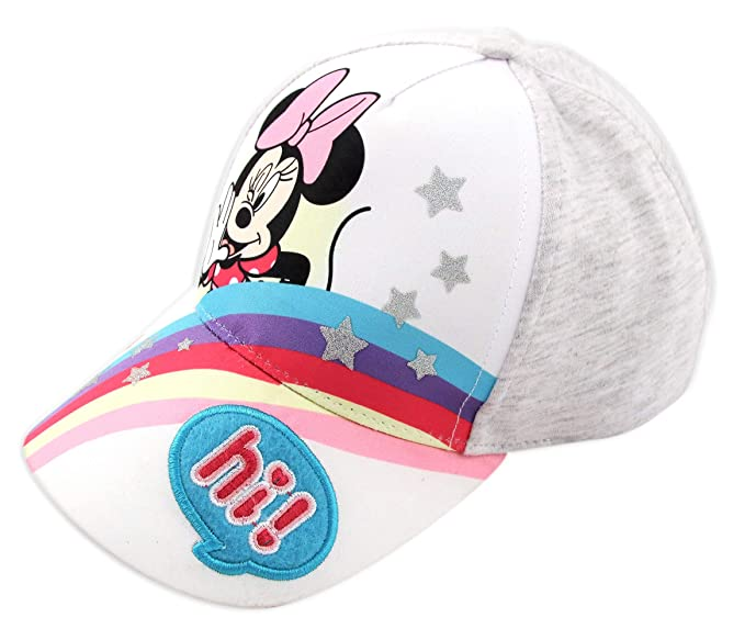 ea169a8c9 Disney Minnie Mouse Heather Jersey Rainbow Baseball Cap, Toddler Girls, Age  2-4