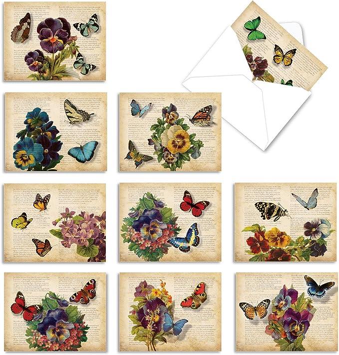Dark French Lilacs \u2013 5-Card Set \u2013 4.25 x 5.5 Folded