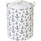 Zonyon Collapsible Laundry Hamper, 15.7'' Jumbo Large Dirty Clothes Laundry Storage Basket with Drawstring for Kids,Boys…