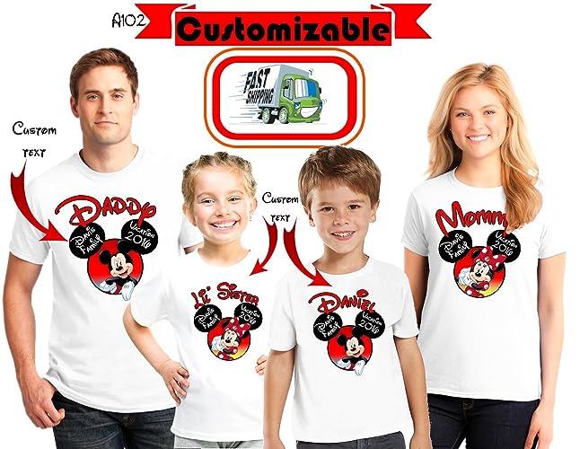 Amazon DISNEY Vacation Family Shirts Disney Custom Matching 2018 T Trip Tees D58