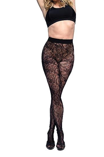 dca1bca4b4c Amazon.com  Curvation Women s Plus Size Figure Enhancing Blossom Tights   Clothing