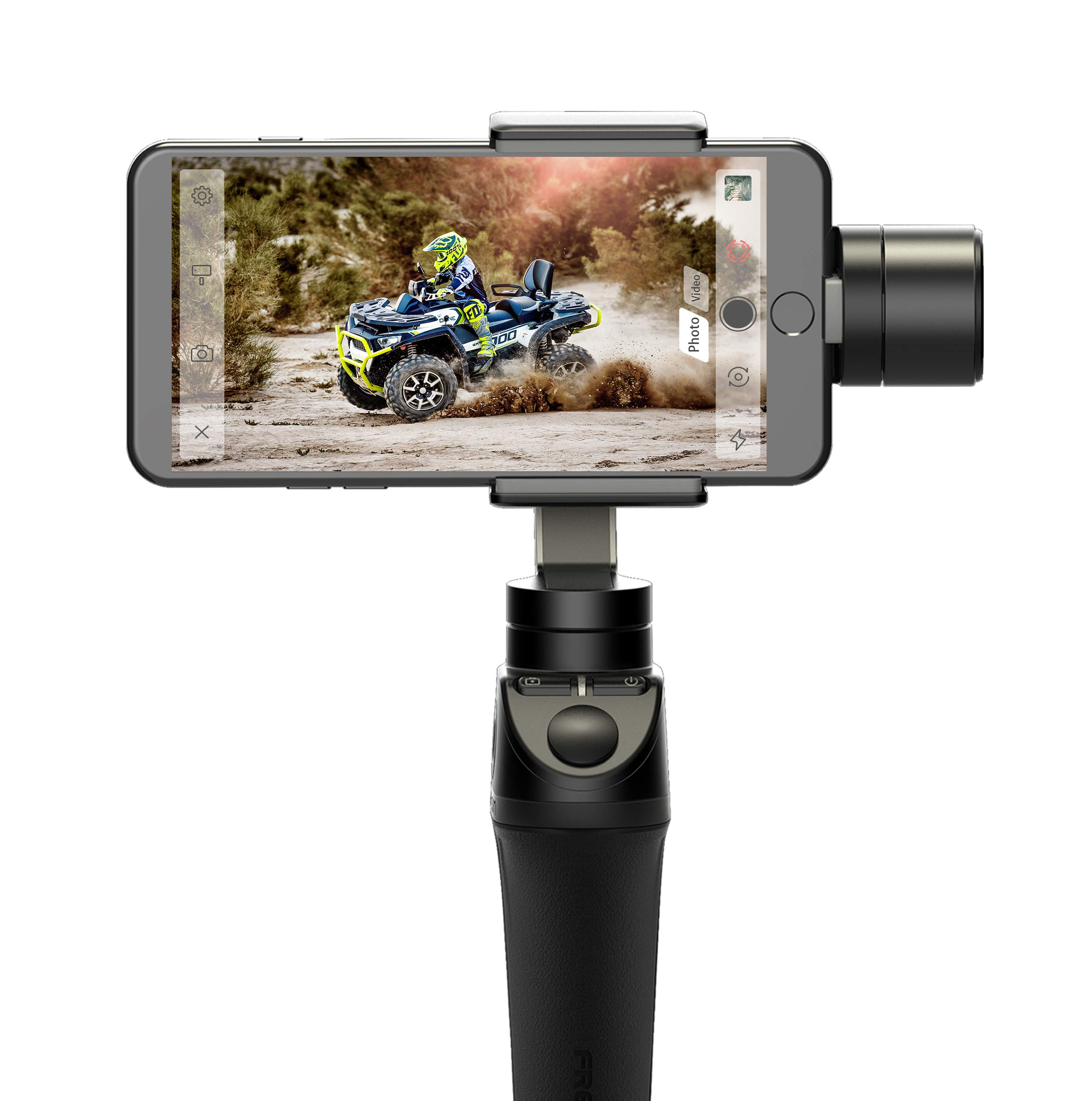 Freevision VILTA 3-Axis Handheld Stabilizer Gimbal for Smartphones (VILTA-M). Ergonomic Handgrip Design w/Rubberized Grip, Metal Solid Build. Infinite 360 Pan. Easy to Use FV Share APP