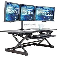 "Rocelco - Convertidor de computadora de pie Ajustable de 32 Pulgadas de Altura, 117 cm, Negro, 46"""