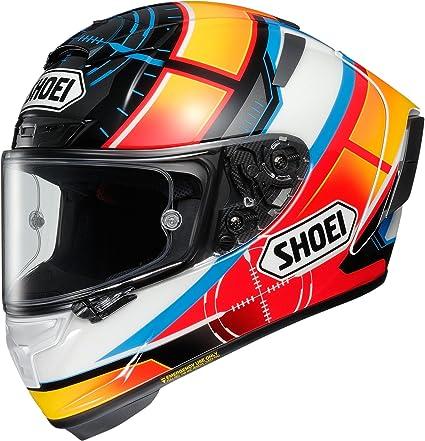 Shoei X Spirit 3 De Angelis Motorcycle Helmet M White Orange Blue Tc 1 Sport Freizeit