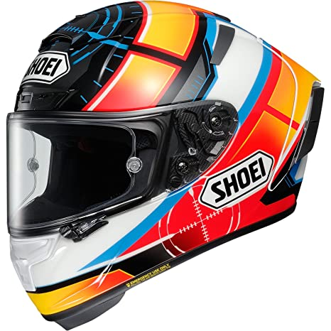 Shoei X-Spirit 3 De Angelis Motorcycle Helmet XS White Orange Blue (TC-
