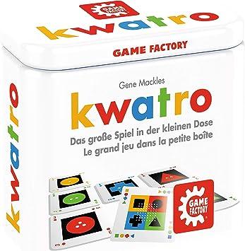Kwatro - Juego de Mini Tarjetas en práctica Caja de Metal, Mezcla de Juegos para niños y Adultos, Juego de Viaje: Amazon.es: Juguetes y juegos