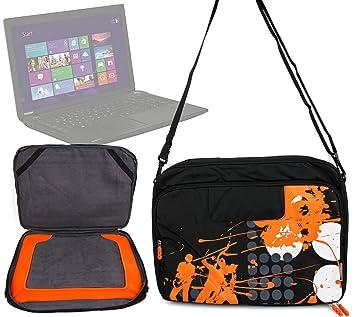 "Bolsa, color negro/naranja, diseño ""urban music-Cargador para ordenador"
