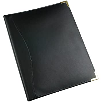 Executive A4 Ring Binder Leather Cover 4 Rings Silver