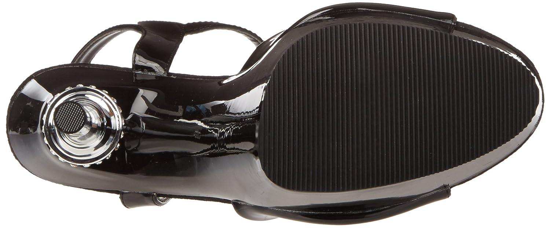 Pleaser Women's Allure-609 Sandal B0016KE02C 5 B(M) US Black Patent/Black