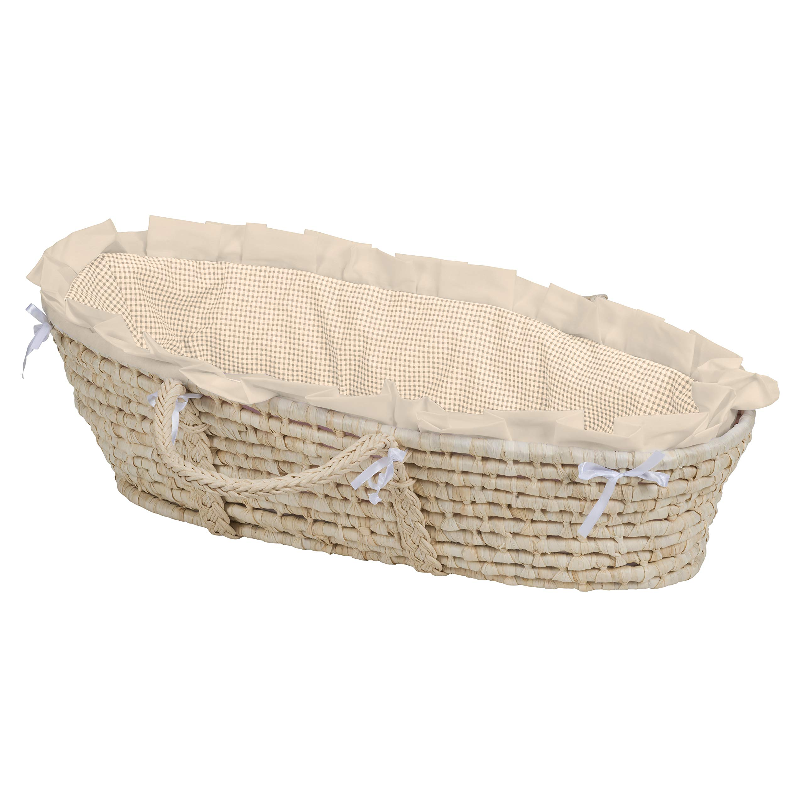 Baby Moses Basket with Liner, Sheet, and Pad by Badger Basket