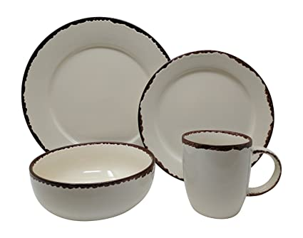 Gianna\u0027s Home 16 Piece Rustic Farmhouse Country Stoneware Distressed Dinnerware Set Service for 4 (  sc 1 st  Amazon.com & Amazon.com | Gianna\u0027s Home 16 Piece Rustic Farmhouse Country ...