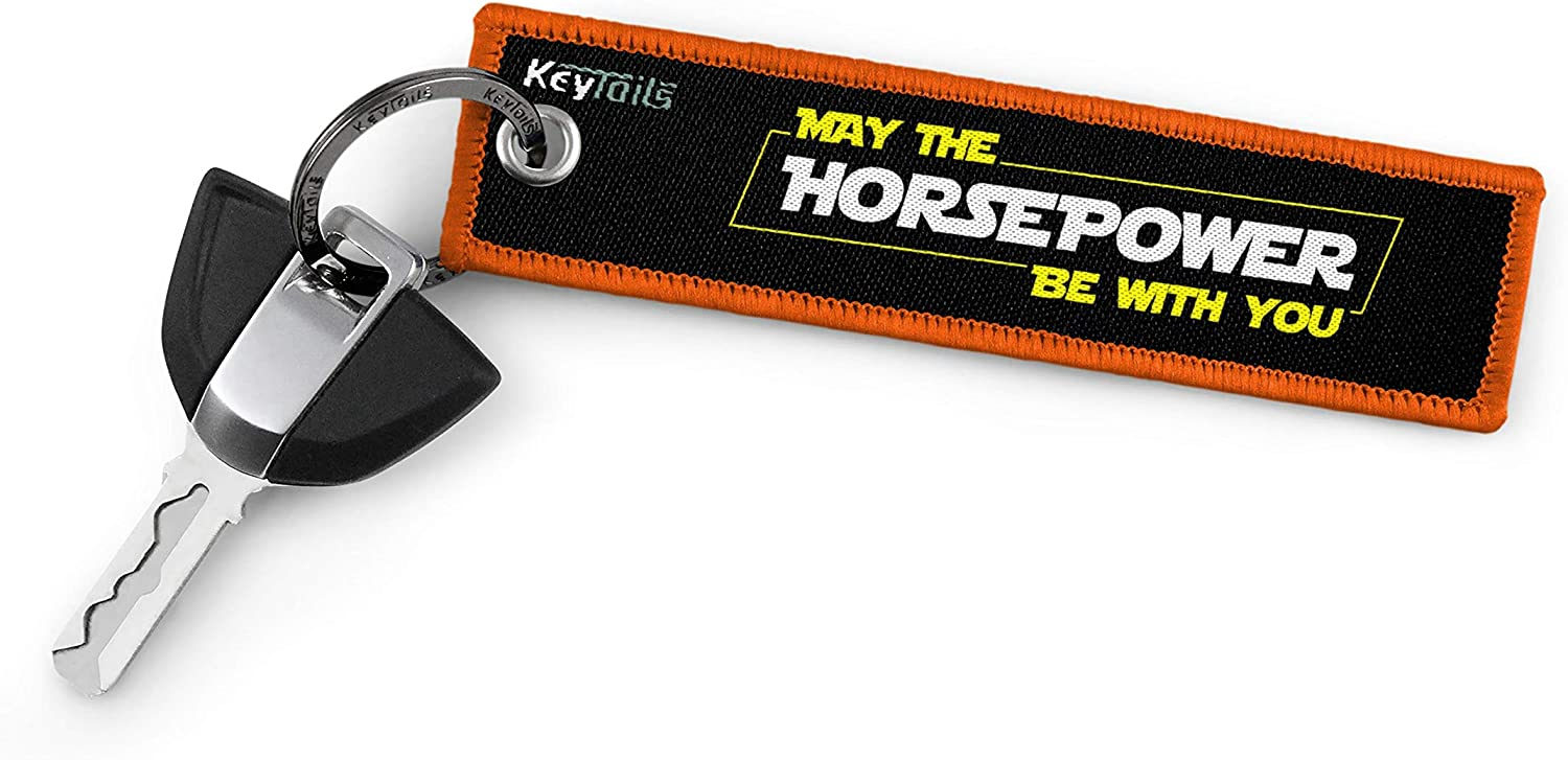 May The Horsepower Be with You KEYTAILS Keychains Premium Quality Key Tag for Motorcycle Scooter Dirt Bike