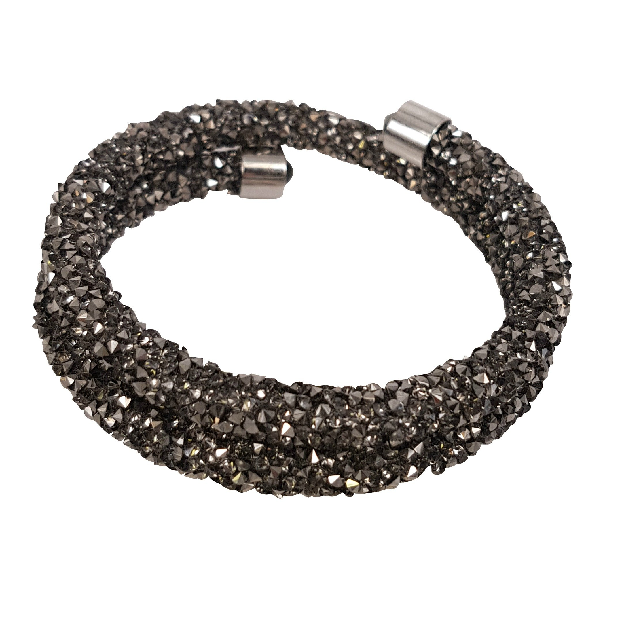 Crystal Wrap Bracelet (Light Charcoal) by Libera Collection