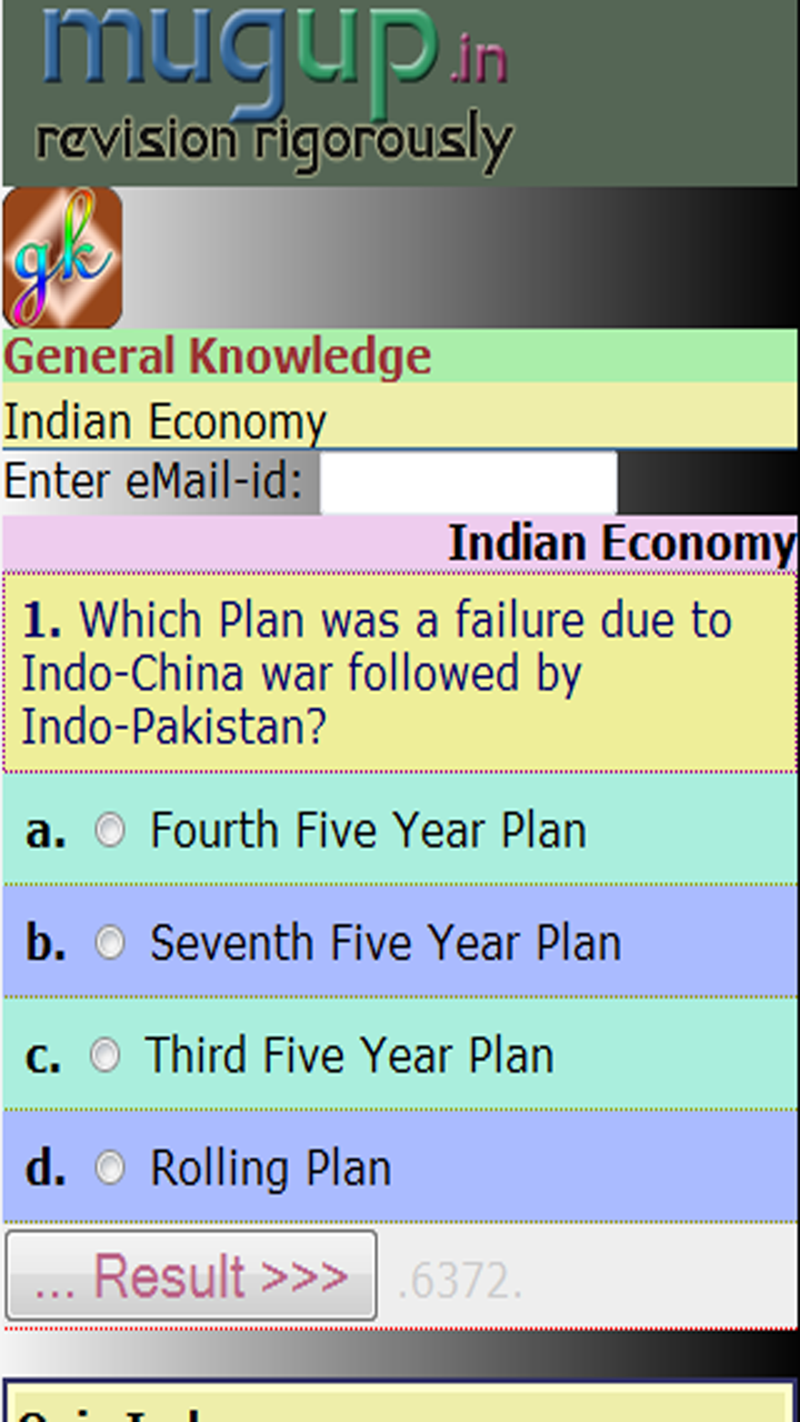 GK Indian Economy