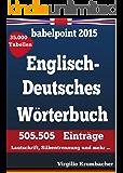 babelpoint 2015 - Englisch-Deutsches Wörterbuch: 505.505 Einträge. Lautschrift, Silbentrennung und mehr