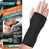 Night Wrist Sleep Support Brace - Fits Both Hands - Cushioned to Help With Carpal...