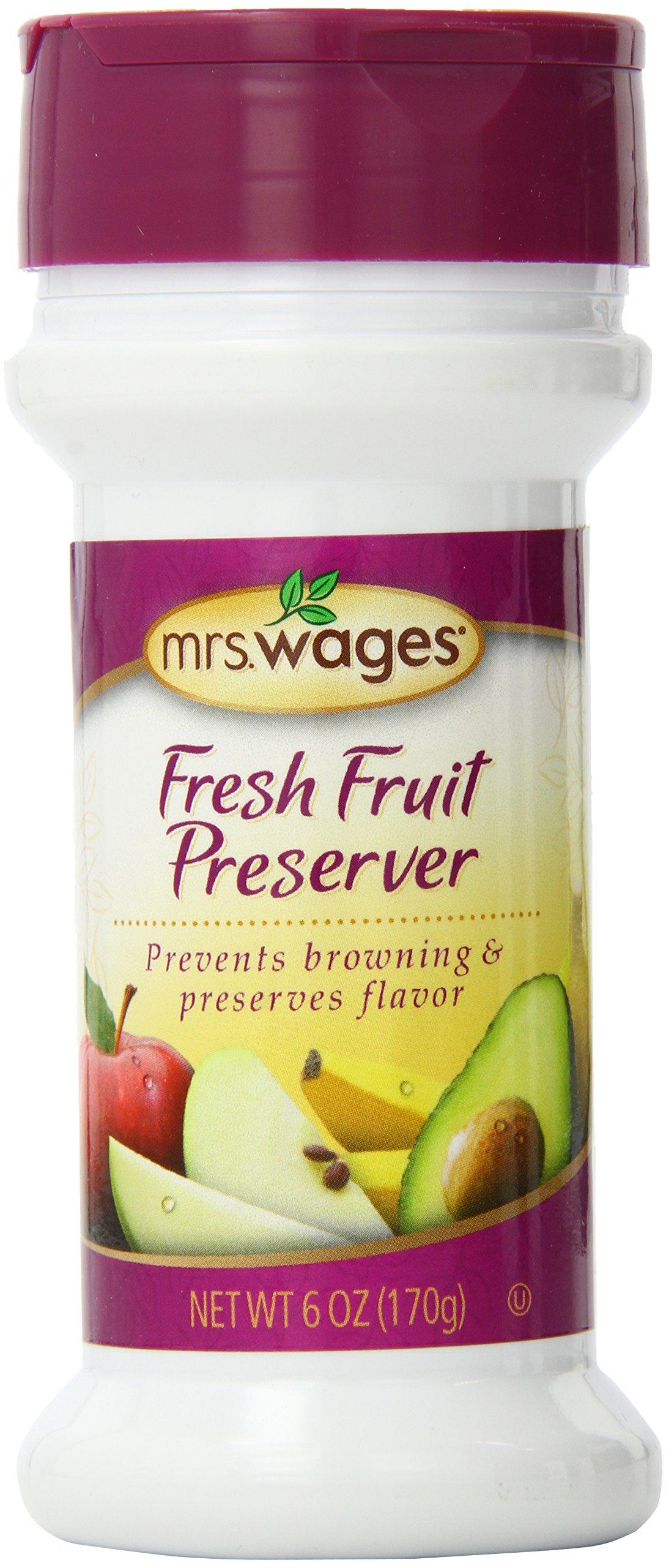 Mrs. Wages Fresh Fruit Preserver, 6-Ounce Shaker Bottle(Pack of 6)