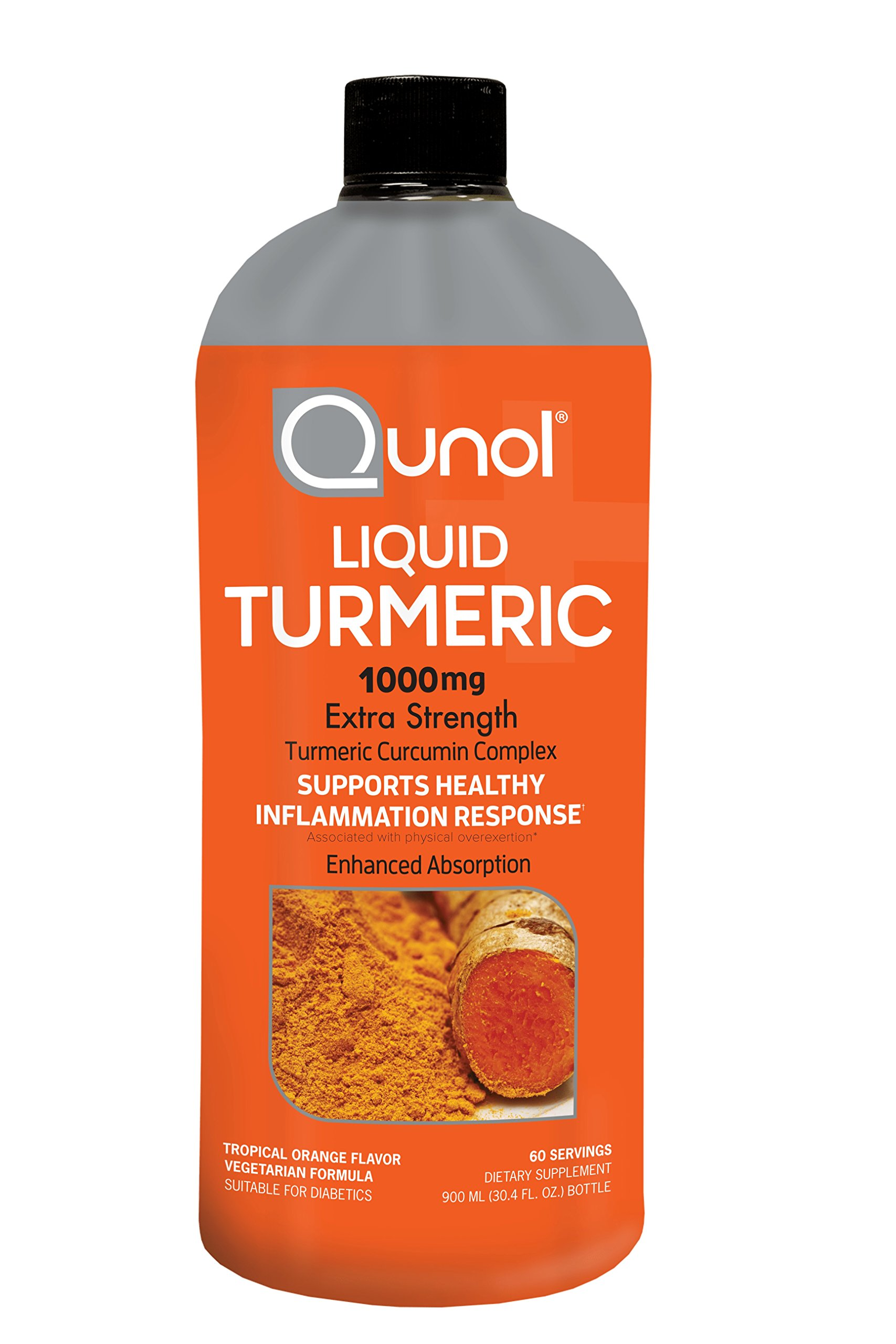 Qunol Liquid Turmeric Curcumin with Bioperine 1000mg, Anti-Inflammatory, Dietary Supplement, Extra Strength, 60 Servings