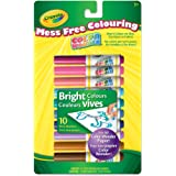 Crayola 10 Color Wonder Mini Markers, Bright Colours