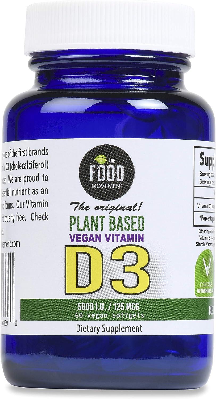 Vegan Vitamin D3-5000 IU 60 Veggie Softgels