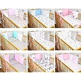 Nestchen mit 6 x Kissen für Baby für 70x140 cm oder 60x120 cm Baby Bett