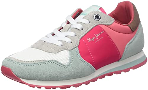Pepe Jeans London Verona W Casidi, Zapatillas Mujer, Rosa (Disco Pink), 37 EU: Amazon.es: Zapatos y complementos