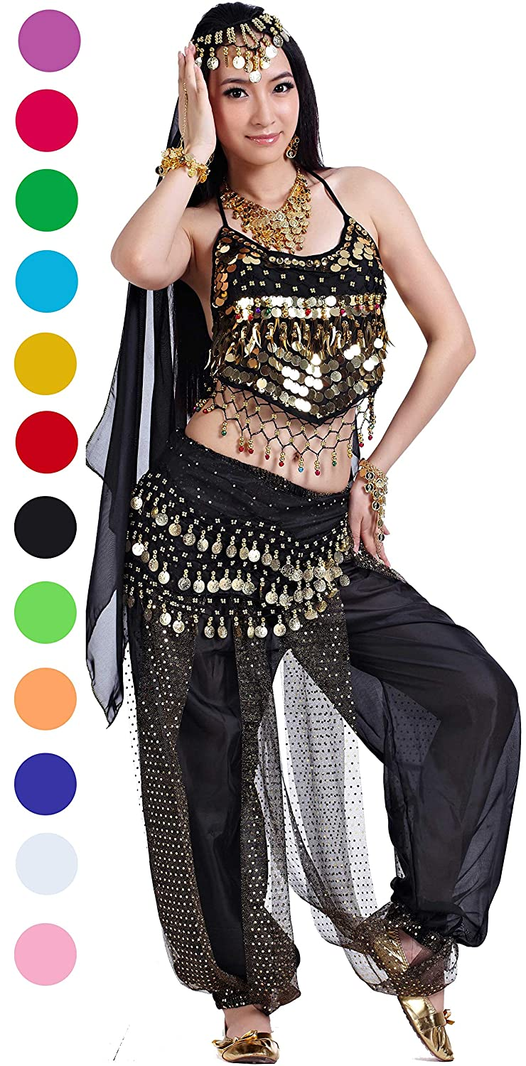 9f3ccaecb Amazon.com  Athena YY Belly Dancer Costumes Bollywood Dancer Costume ...