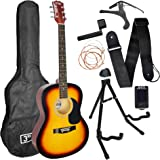3rd Avenue Acoustic Guitar Premium Beginner Starter Pack - Sunburst