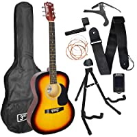 3rd Avenue Acoustic Guitar Premium Beginner Starter Pack - Sunburst