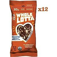 Clif Whole Lotta - Roasted Peanut Chocolate - Organic Protein Bars, Fruit & Nut & Seed Bars - Gluten Free & Vegan Snacks (1.98 oz Protein Bars, 12 Count)
