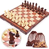 Peradix Chess Set Magnetic Folding Chess Board Game for Kids Children 35 x 32 cm
