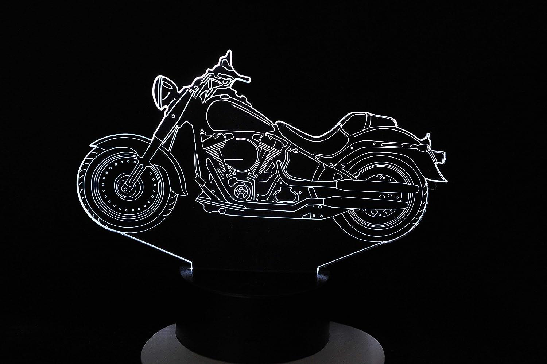 Lampe 3D Motif: moto harley
