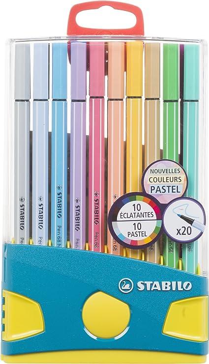 Premium Filzstift Stabilo Pen 68 Colorparade 20er Pack Mit 20 Verschiedenen Farben Bürobedarf Schreibwaren