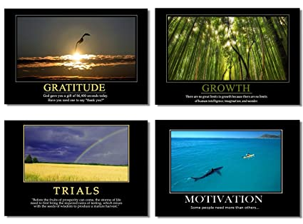 Amazon 4pcs X Motivational Self Positive Office Quotes