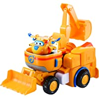 """Super Wings - Donnie's Dozer   Transforming Toy Vehicle Set   Includes Transform-a-Bot Donnie Figure   2"""" Scale"""