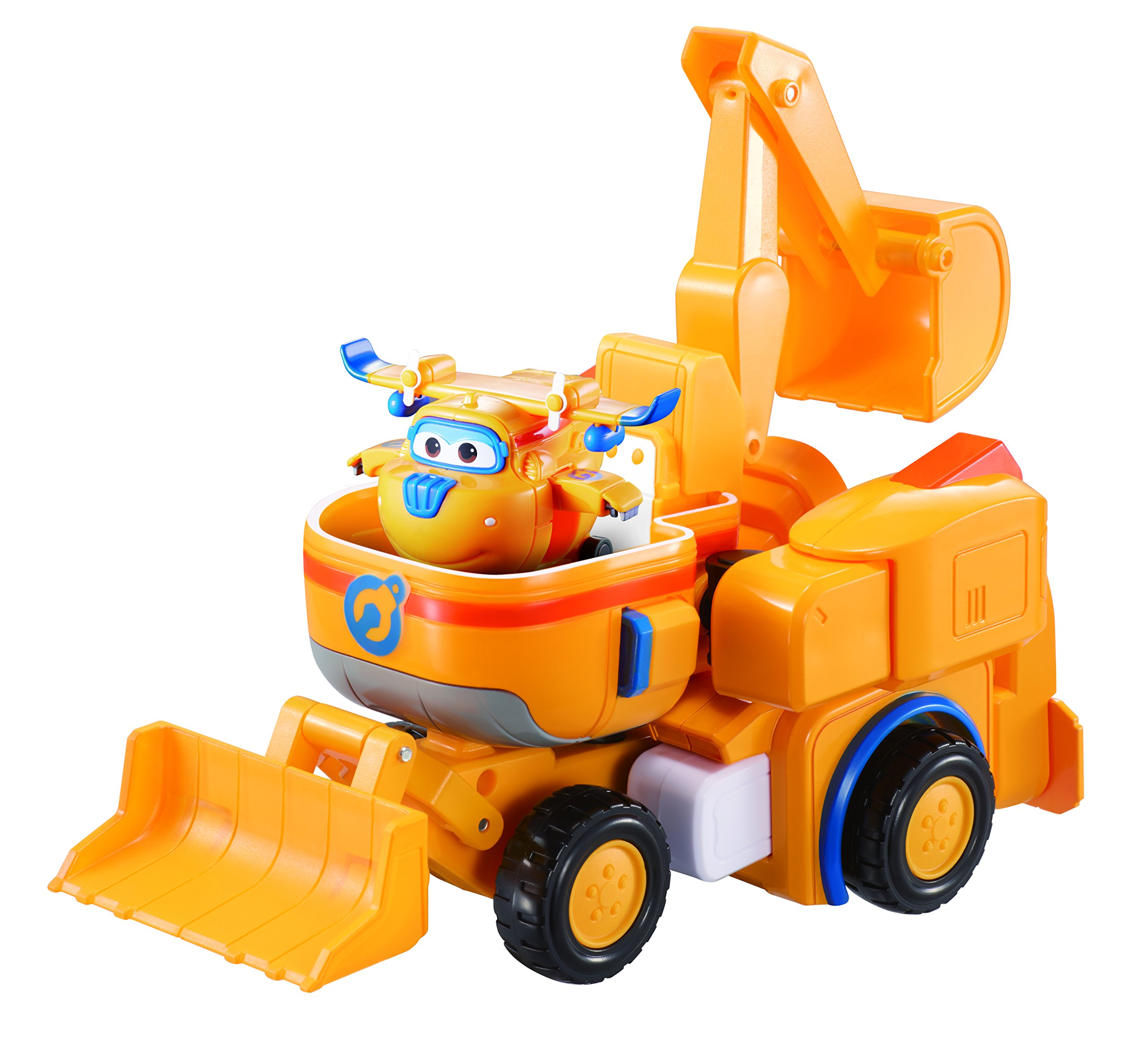 Super Wings - - Dozer | Toy Vehicle Set |, Includes Transform-a-Bot Donnie Figure | 2'' Scale