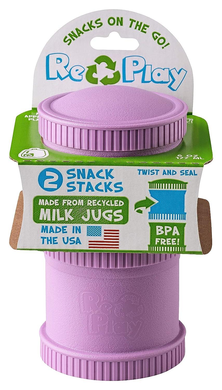 Recipiente para Aperitivos Material Reciclado, atornillable, antigoteo Re-Play Snack Stack Aqua