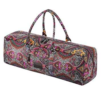 c9e718131ca MiChef Yoga Mat Bag - Patterned Canvas Duffle Bag with Zipper and Pocket  (Celestial)