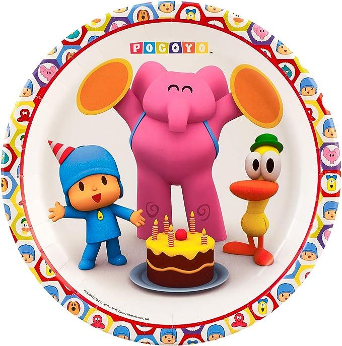 BirthdayExpress Pocoyo Party Supplies Dessert Plates for 8