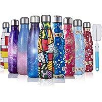 JOGVELO Bottiglia Acqua in Acciaio Inox - Senza BPA, Borraccia Termica Isolamento Sottovuoto a Doppia Parete, Borracce per Bambini, Scuola, Sport, All'aperto, Palestra, Yoga